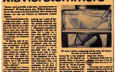 Wanklanke oor klavierstemmers 11 Mei 1979