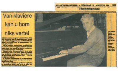 Van klaviere kan u hom niks vertel